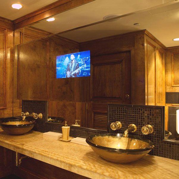 San Antonio bathroom remodeling contractor installation tile flooring remodeling bathroom cabinets mirror tv vanity