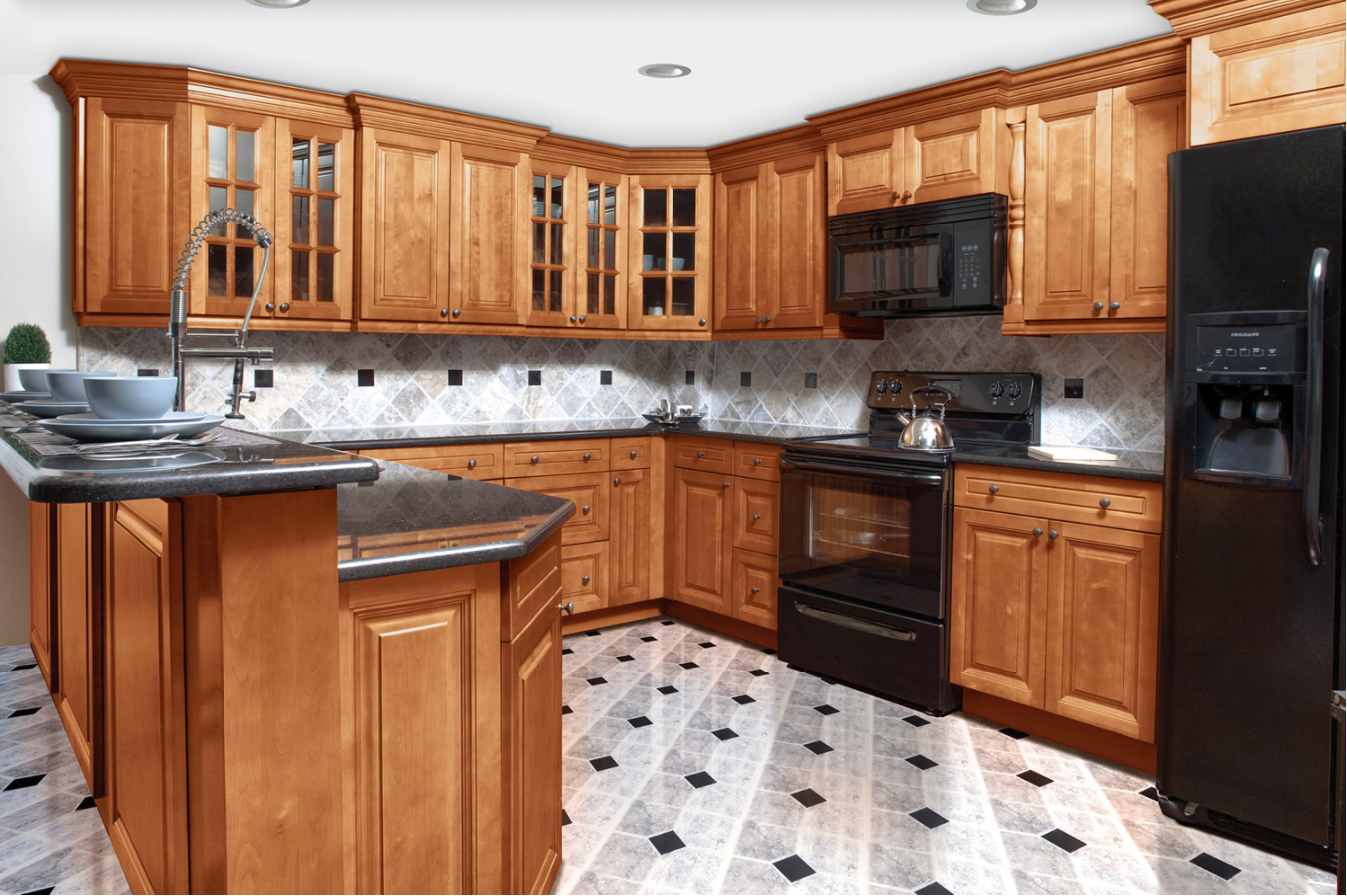 American Heritage Frameless Kitchen Cabinets New Generation